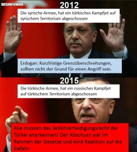 erdogan heuchlerrei
